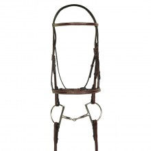 HK Americana Fancy Raised Padded Bridle with Fancy Raised Lace Reins