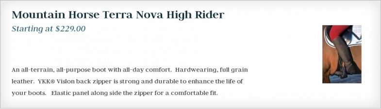 Mountain Horse Terra Nova High Rider
