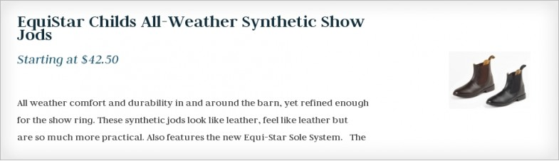 EquiStar Childs All-Weather Synthetic Show Jods
